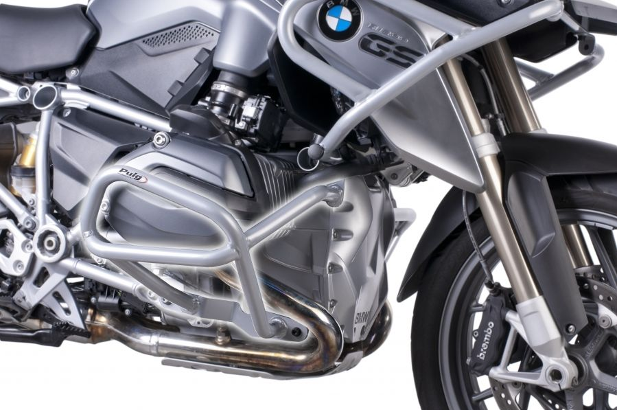 BMW R1200GS LC (2013) Defensas Inferiores + Superiores Puig Color Gris - Ref 6538U + 6814U