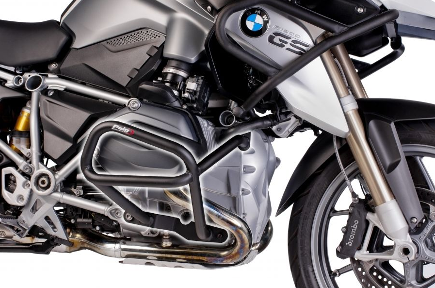 BMW R1200GS LC (2014 - 2017) Defensas Inferiores + Superiores Puig Color Negro - Ref. 7542N + 7543N